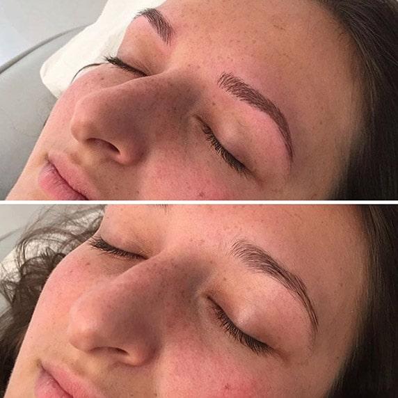 maquillage permanent des sourcils, un résultat superbe